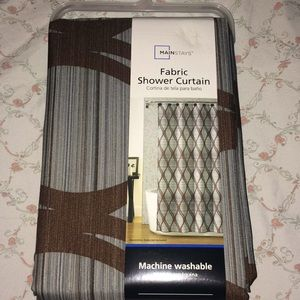 NWT Mainstays Fabric Shower curtain